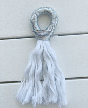 Load image into Gallery viewer, Fall/Holiday Rosé Tassel- metallic silver