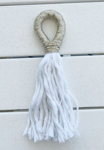 Fall/Holiday Rosé Tassel- Metallic Gold