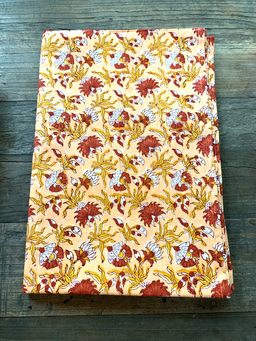 Block print - Autumn Floral Petite Dinner Napkin