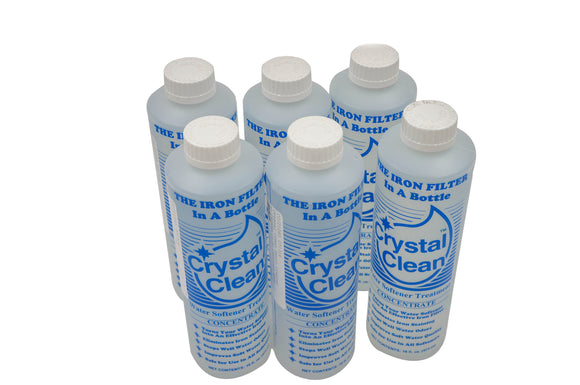 Crystal Clean™ Water Softener Treatment - 16 fl. oz. bottle - 6 Pack