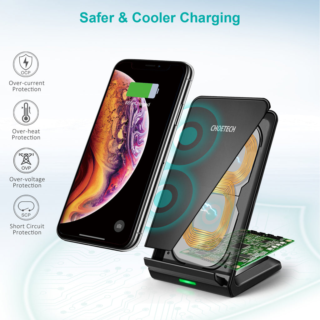 10W Fast Wireless Charging Stand CHOETECH T524-S