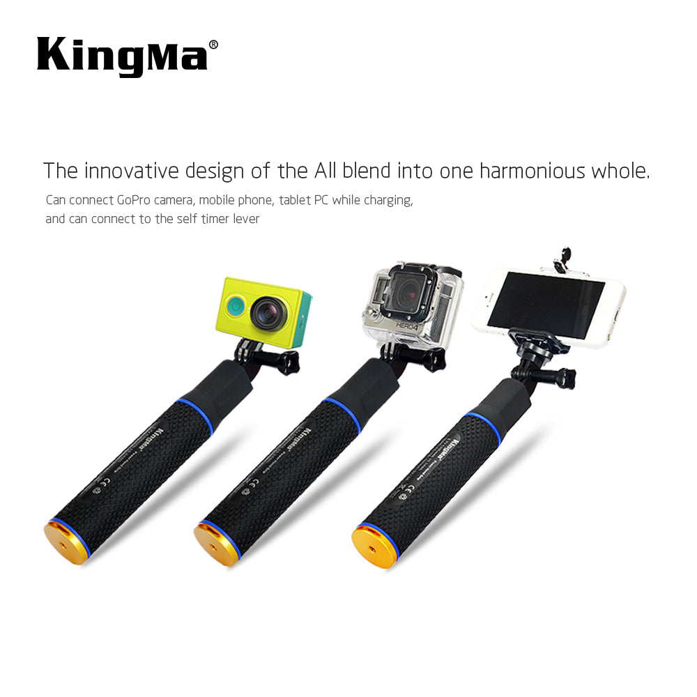 Selfie power grip 5200mAh built-in power bank for action camera KingMa [BMGP198]