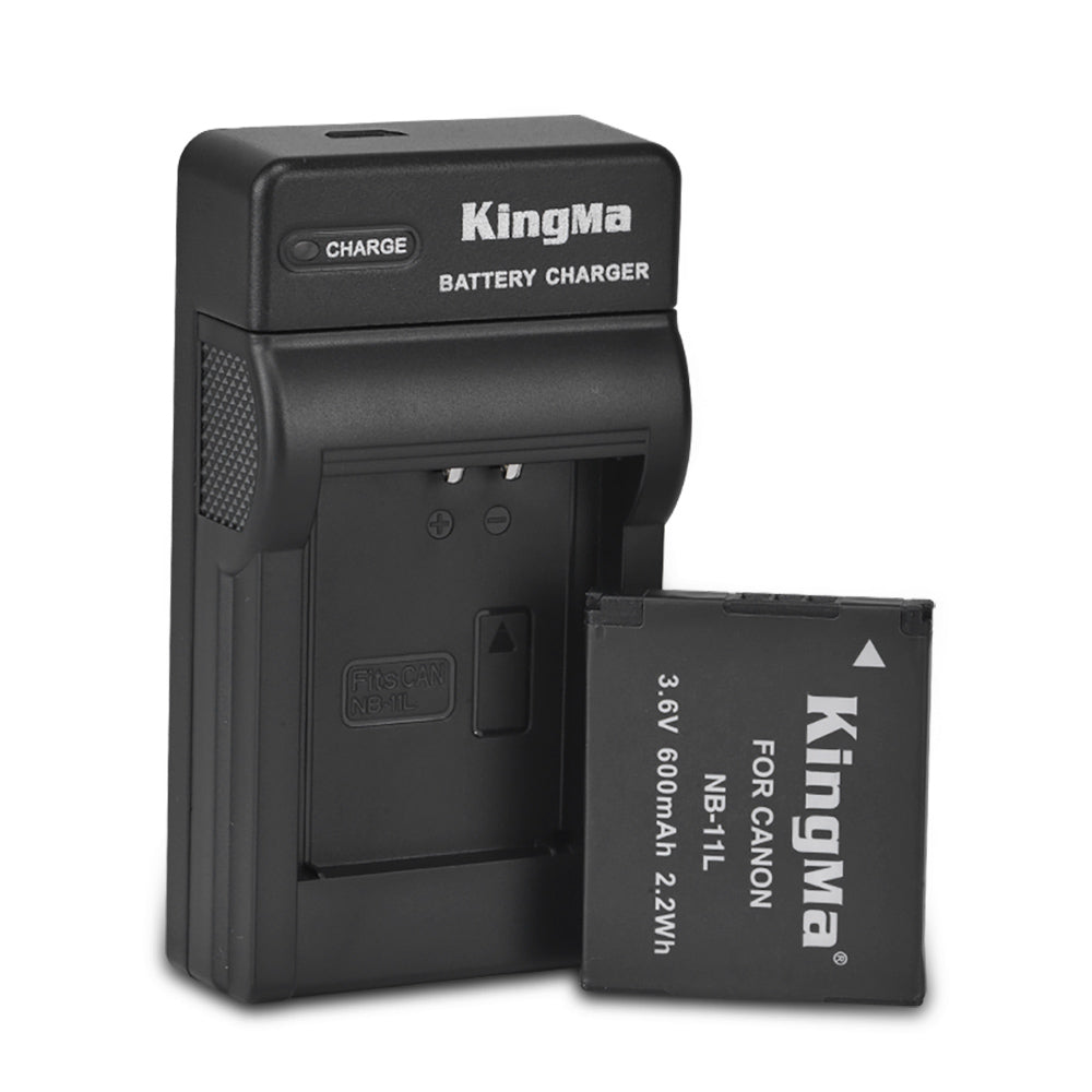 Canon NB-11L Charger kit, 1X 600mAh with single battery slot charger by KingMa DC130/NB-11L