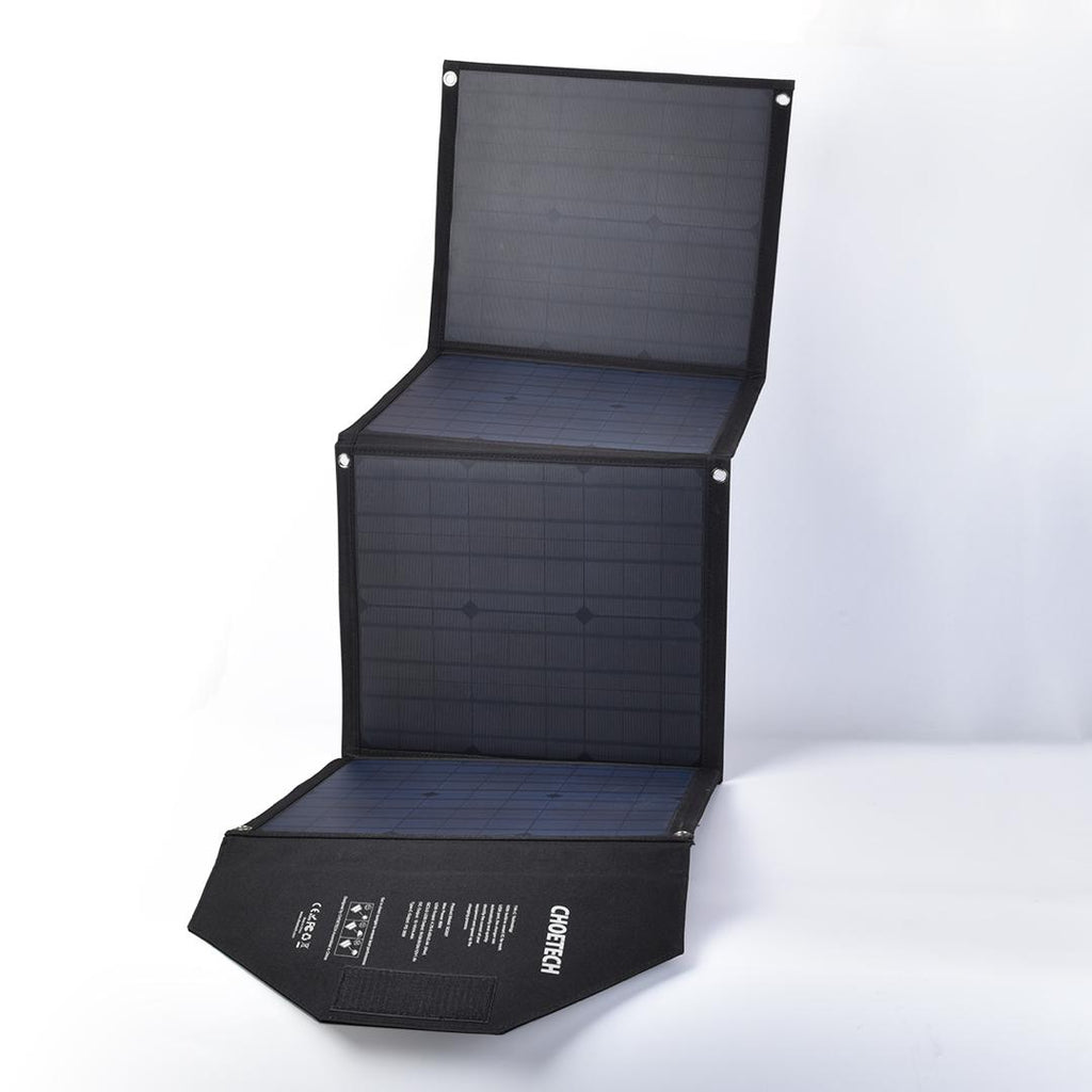 80W Foldable & Portable Solar Panel Charger with DC and USB Type Ports by Choetech