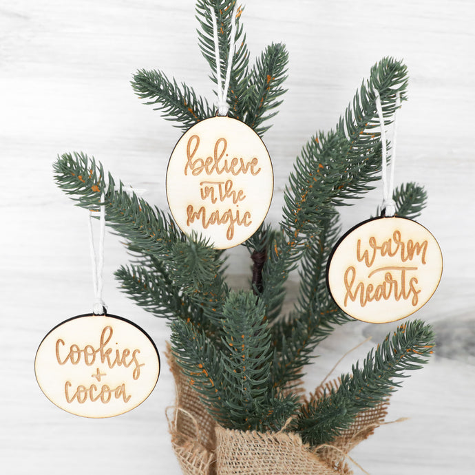 Christmas Ornament Set with Sweet Sayings
