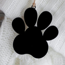 Load image into Gallery viewer, Acrylic Paw + Twine Ornament & Stocking Tag