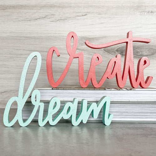 Create & Dream | Sign Decor Bundle