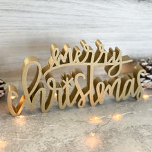 Load image into Gallery viewer, hand-lettered Merry Christmas sign