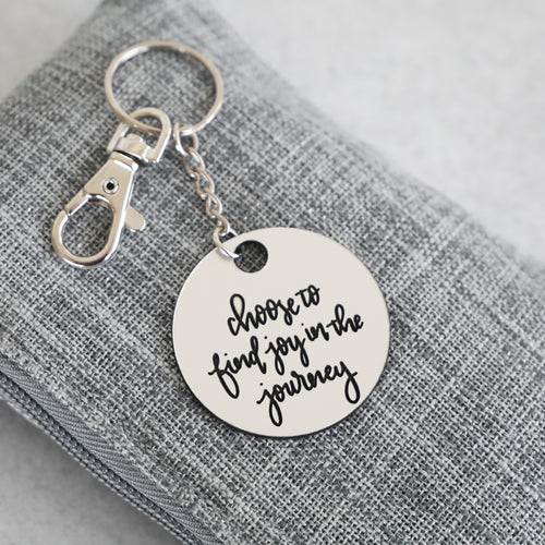 Find Joy In The Journey Keychain | Psalm
