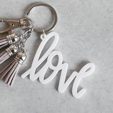 Load image into Gallery viewer, Classic Love Keychain with Mini Tassels