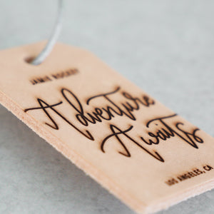 Adventure Awaits | Custom Leather Luggage Tag