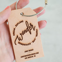 Load image into Gallery viewer, Wander | Custom Leather Luggage Tag