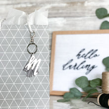 Load image into Gallery viewer, Classic Initial Letter Keychain with Mini Tassels