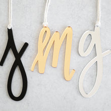 Load image into Gallery viewer, Acrylic Letter + White Twine | Ornament & Stocking Letter