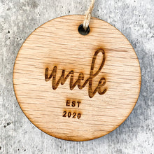 Load image into Gallery viewer, Auntie & Uncle Established 2020 | Christmas Ornament