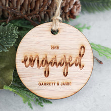 Load image into Gallery viewer, Engaged 2019 Wood Christmas Ornament