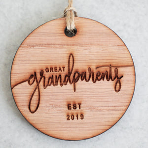 Great Grandparents Established 2019 Christmas Ornament