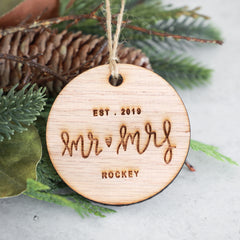 Mr and Mrs 2019 Christmas Ornament