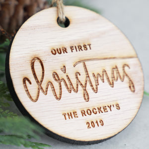 Our First Christmas 2019 Wood Christmas Ornament
