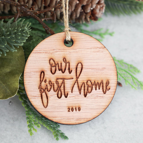 Our First Home 2019 Wood Christmas Ornament