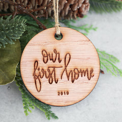 Our First Home 2019 Christmas Ornament