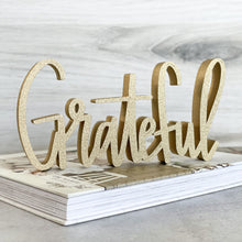 Load image into Gallery viewer, hand-lettered Grateful sign
