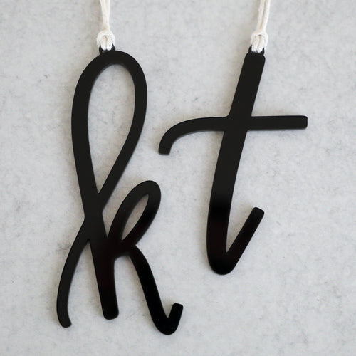 Acrylic Letter + White Twine | Ornament & Stocking Letter
