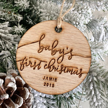 Load image into Gallery viewer, Baby's First Christmas Ornament Wood