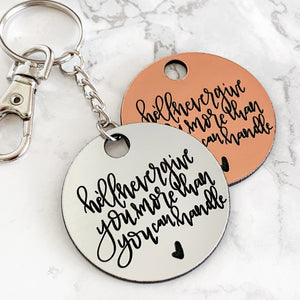 Corinthians Keychain | He'll Never Give You More Than You Can Handle