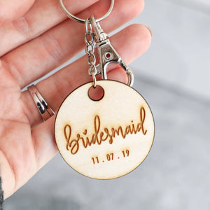 Bridal Party | Keychain (Bridesmaid, Maid of Honor, Matron of Honor)