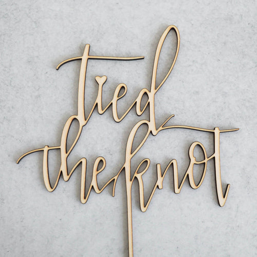 Tied The Knot | Cake Topper