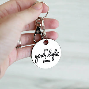 Let Your Light Shine Keychain | Mathew 5:16