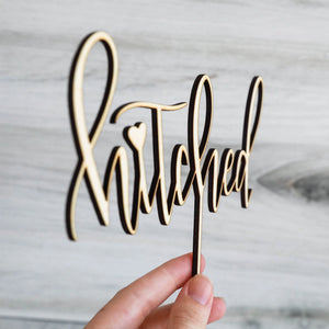 Hitched | Cake Topper