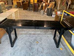 Pagoda Top Console Table Custom Lacquer + FREE SHIPPING