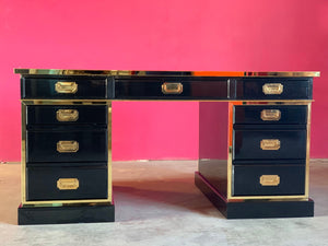 Executive Campaign Desk Custom Crafted