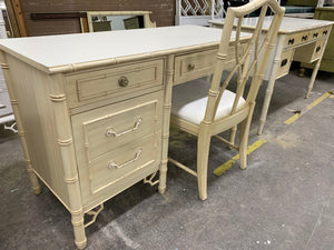 Thomasville Fretwork Desk & Chair- Custom Lacquered FREE SHIPPING