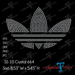 Adidas Logo Rhinestones Digital Download