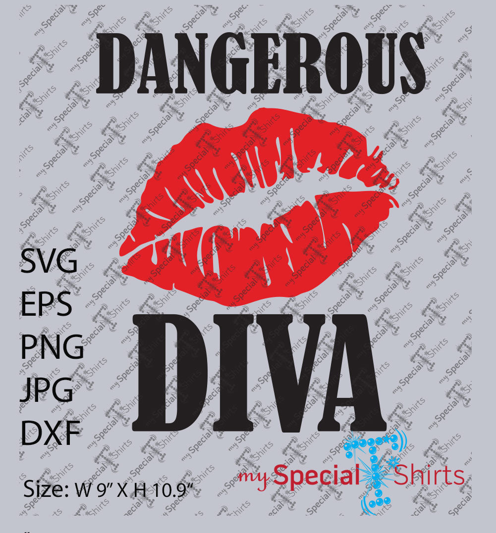 Dangerous Diva Vector Digital Download