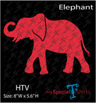 Red Elephant Instant Download, (svg, dxf .eps) HTV Transfer cut file