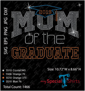 Mom Of The Graduate Rhinestone Digital Download