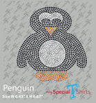 Penguin Instant Download file, (svg, dxf .eps) Rhinestone Transfer cut file