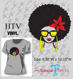 Afro Girl With Flower Vector Digital Download Mst - Be Createful - Becreateful.com