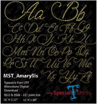 Amaryllis Otf Typeable Rhinestone Font Digital Download Mst - Be Createful - Becreateful.com