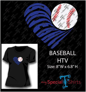 Baseball Heart Vector Digital Download Mst - Be Createful - Becreateful.com