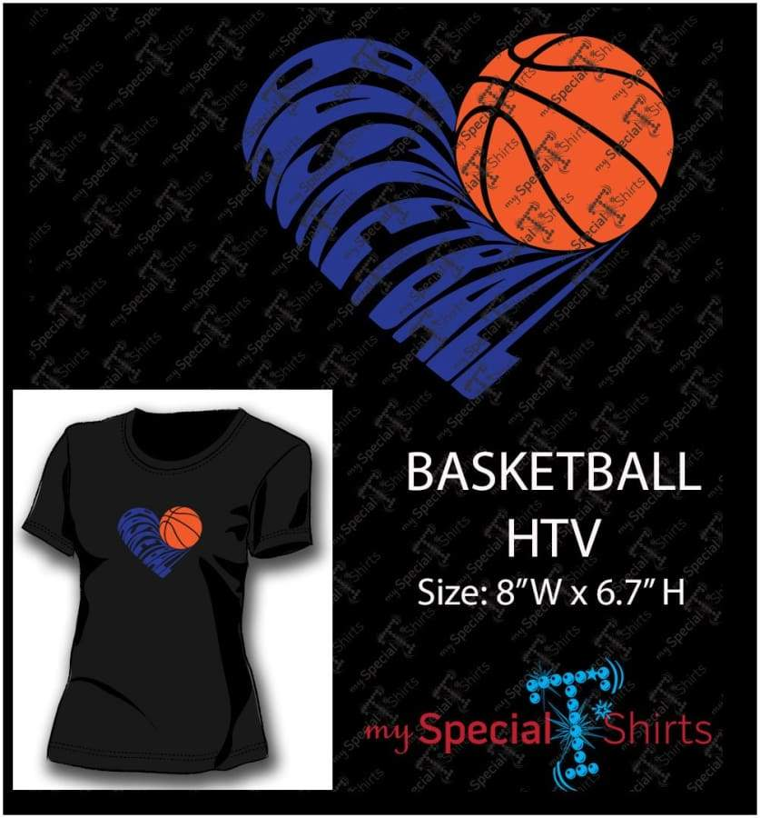 Basketball Heart Vector Digital Download Mst - Be Createful - Becreateful.com