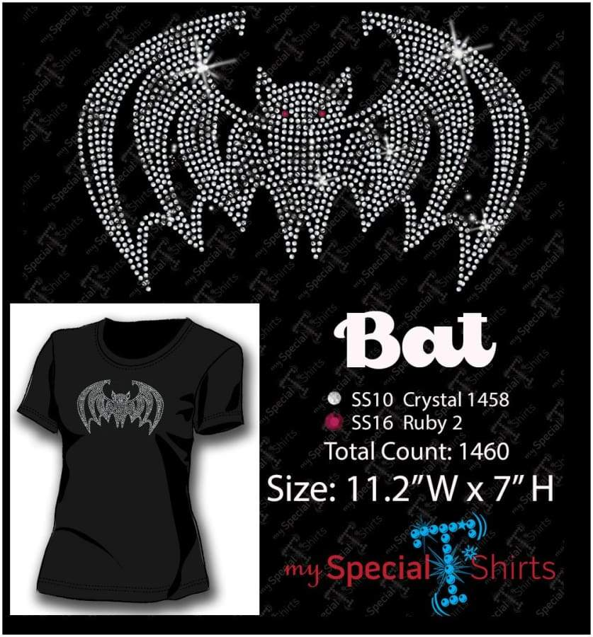 Bat Rhinestone Digital Download Mst - Be Createful - Becreateful.com