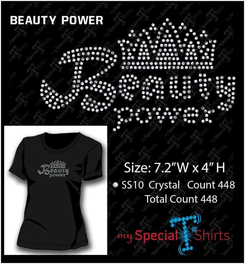 Beauty Power Rhinestone Digital Download Mst - Be Createful - Becreateful.com