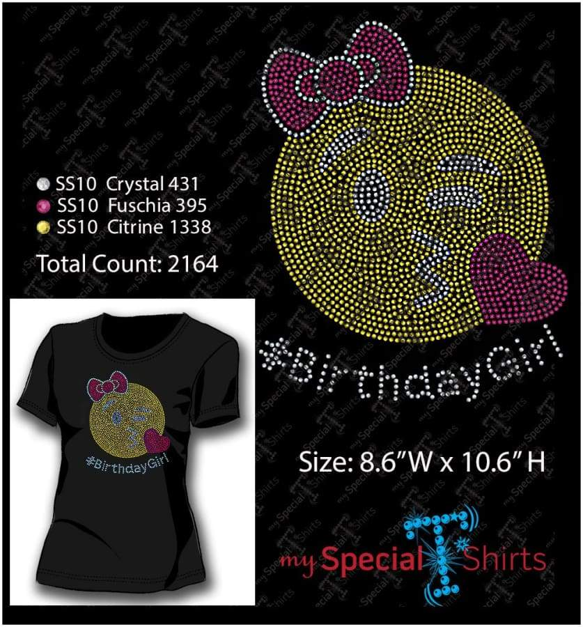 Birthday Girl Rhinestone Digital Download Mst - Be Createful - Becreateful.com