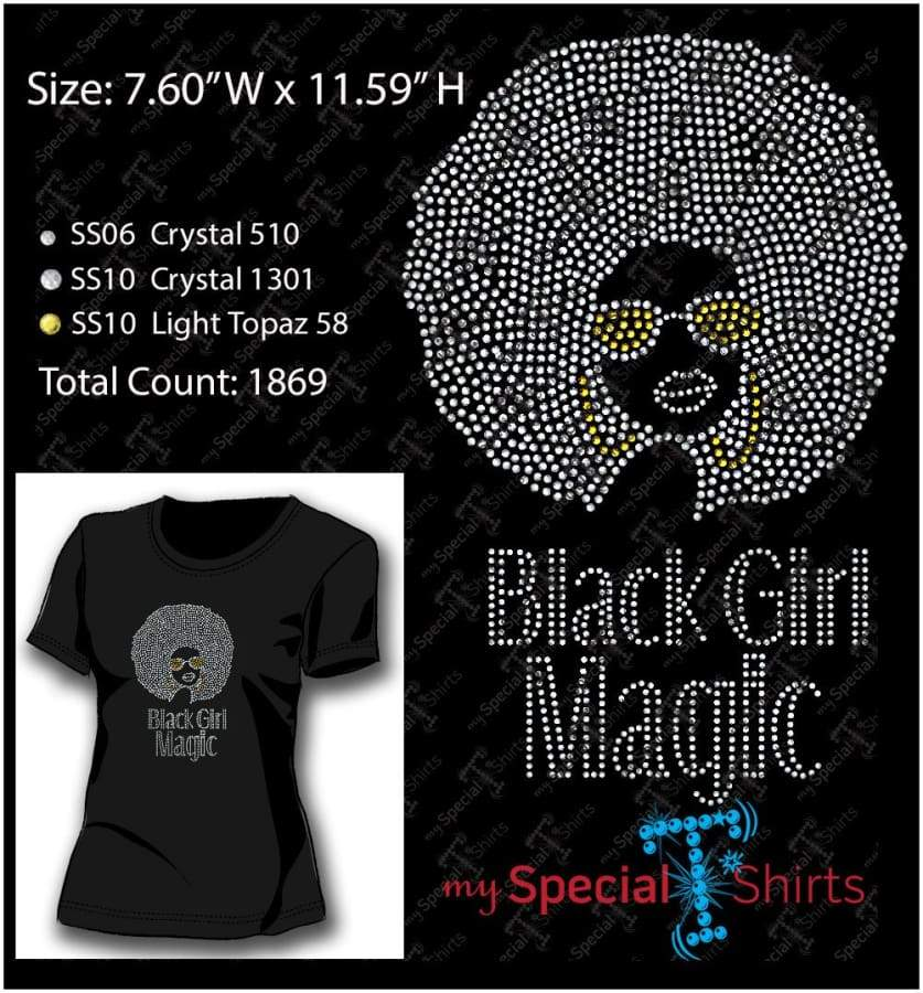 Black Girl Majic Rhinestone Digital Download Mst - Be Createful - Becreateful.com