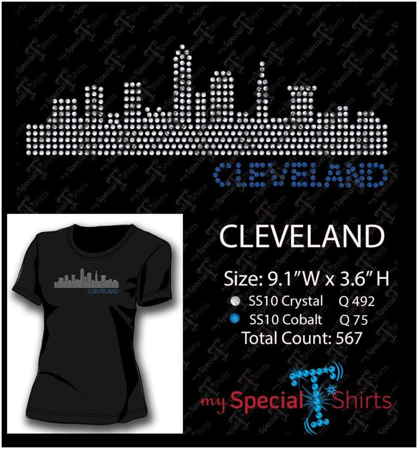 Cleveland Skyline Ss10 Rhinestone Digital Download Mst - Be Createful - Becreateful.com